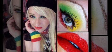 how to apply a rasta reggae inspired girly makeup look
