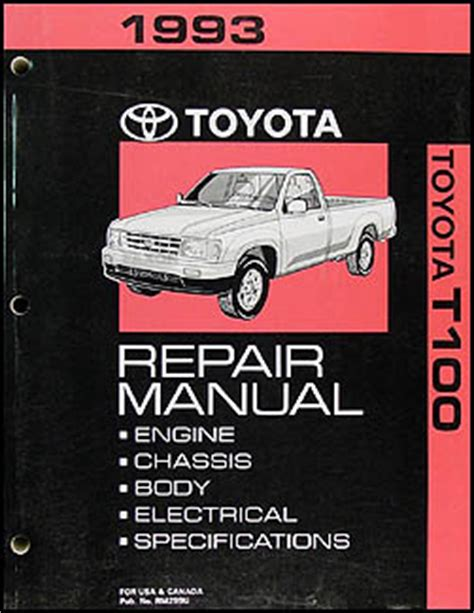 1993 toyota t100 repair shop manual original