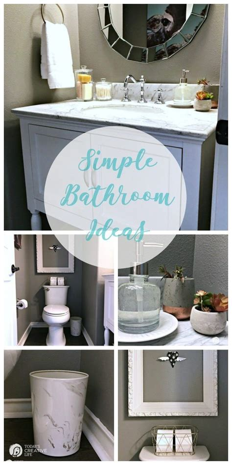 Simple Small Bathroom Makeovers by Best 25 Simple Bathroom Makeover Ideas On