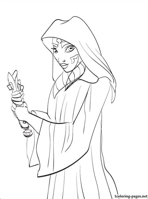 free coloring pages of star wars asoka