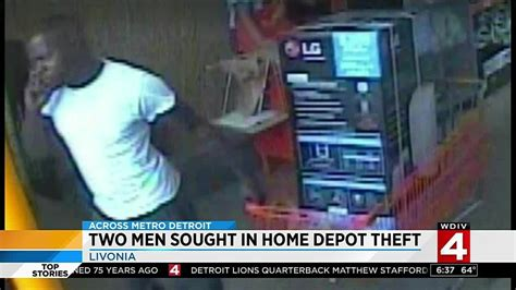2 sought in livonia home depot theft