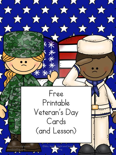 Cards For Veterans - printable veteran s day cards veteran s day lesson plan
