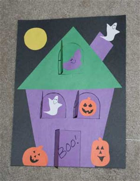 haunted house crafts for lift the flap haunted house craft all network