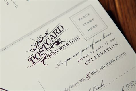 postcard invitations templates michael breanna s antique book wedding invitations