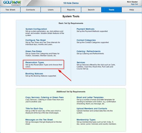 Reservation Letter In Business how to add change reservation types golfnow business