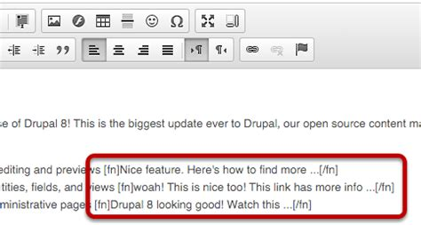 footnote format same as above how to create footnotes in drupal