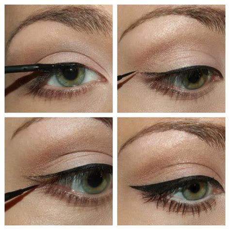 liquid eyeliner tutorial easy perfect those cat eyes tips 1 start with a straight