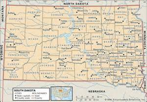 south counties map state and county maps of south dakota
