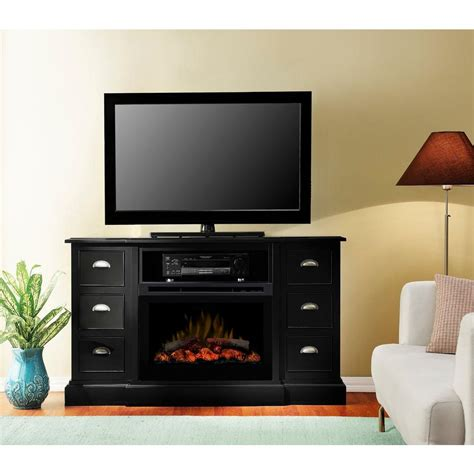 black fireplace media console dimplex gibbons 55 in media console electric fireplace in