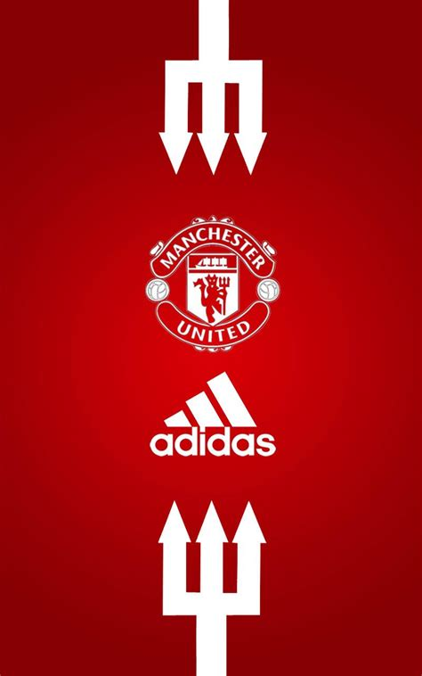 wallpaper android manchester united hd manchester united adidas android wallpaper red