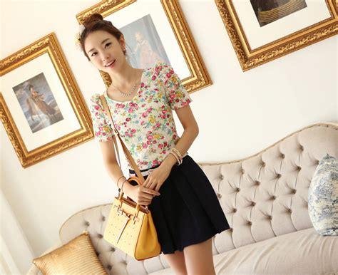Dress Daun Import atasan wanita bunga bunga cantik model terbaru jual
