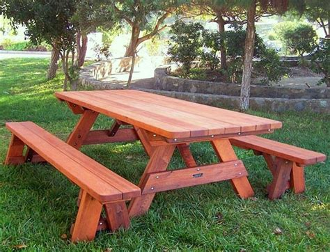 wood picnic table wood picnic table kits built to last decades forever
