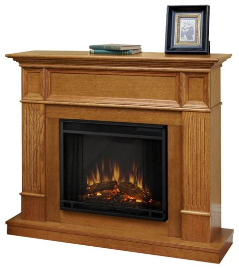 Oak Electric Fireplace Real Camden Electric Fireplace In Light Oak Traditional Indoor Fireplaces