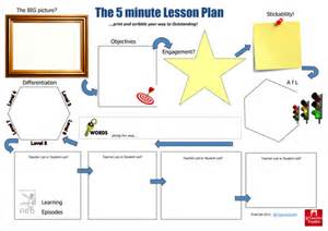 outstanding lesson plan template the 5 minute lesson plan by teachertoolkit by rmcgill