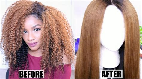 https how to striahten curly hair how i straighten curly hair no heat damage curly to