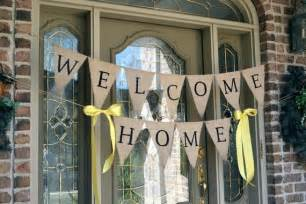 welcome home burlap banner welcome home banners welcome