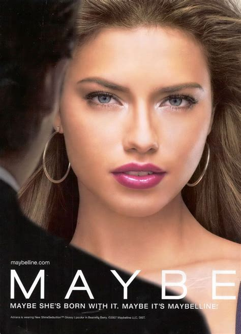 adriana lima    face  maybelline women daily