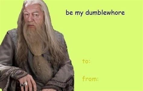 Harry Potter Valentines Meme - harry potter dumbledore valentine s day cards pinterest