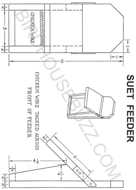 build a suet feeder free plans