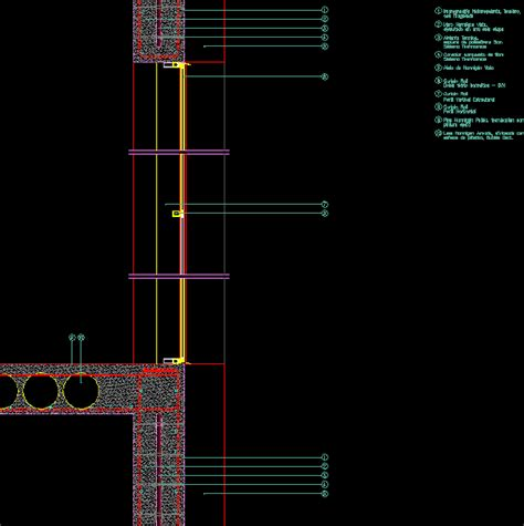 curtain wall section dwg insulated concrete wall curtain wall dwg detail for