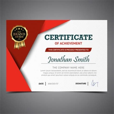 certificate design red luxury certificate with golden details vector free download