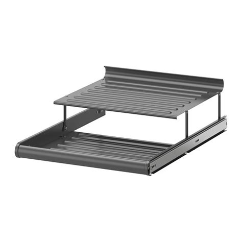 komplement pull out shoe shelf gray 19 5 8x22 7 8