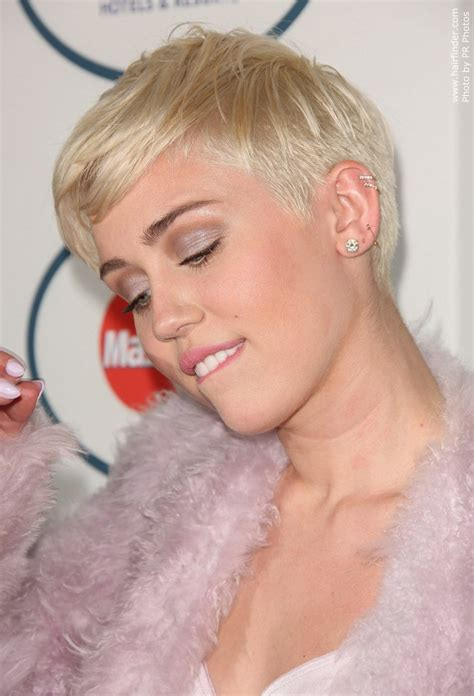 whats miley cyrus pixie cut called miley cyrus wearing her hair in a pixie with shaved sides