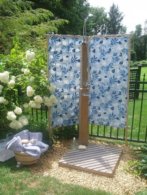 backyard shower create an outdoor shower for dad daley decor with debbe