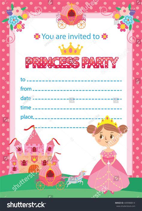 happy birthday princess card template princess birthday invitation template card stock