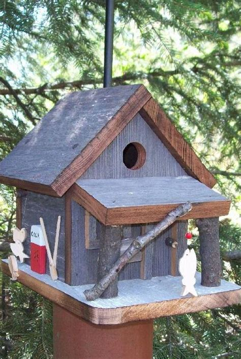 Handcrafted Birdhouses - baitshop birdhouse handcrafted of barn wood country pine
