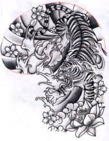 japanese tiger tattoo design oriental inspired tiger