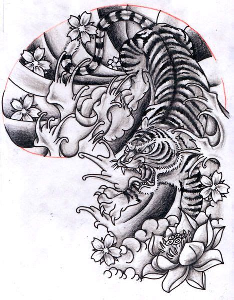 12oct2011 oriental inspired tiger half sleeve design by