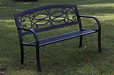 outdoor patio heavy duty  wide rustic black cast iron