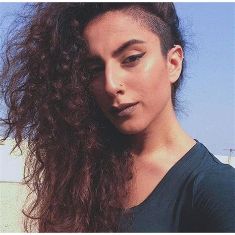 curly hairstyles with shaved sides undercut on long curly hair