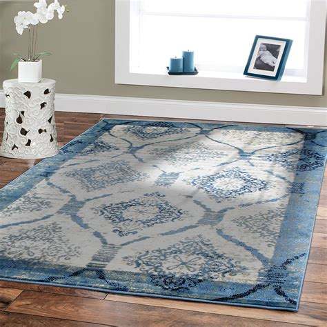 livingroom rugs amazoncom contemporary rugs for living room 5x8 blue area