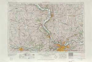 united states map kansas city kansas city topographic map sheet united states 1956