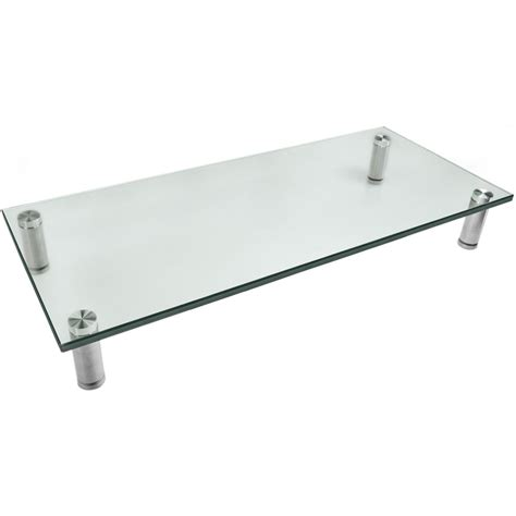 monitor stand cl on glass mount it mi 7260 glass and aluminum display stand mi 7260 b h