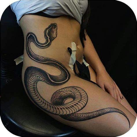 snake tattoo awesome design tattoo female pinterest