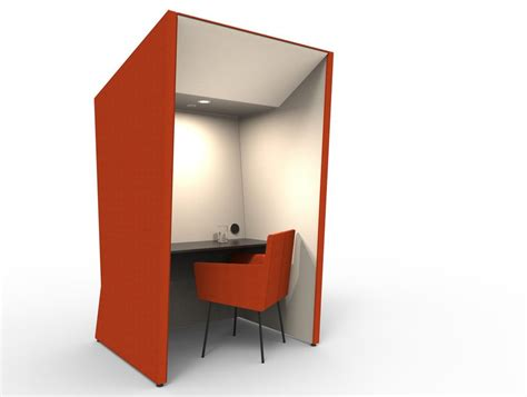 modern work anders ultra modern work booth with led lights