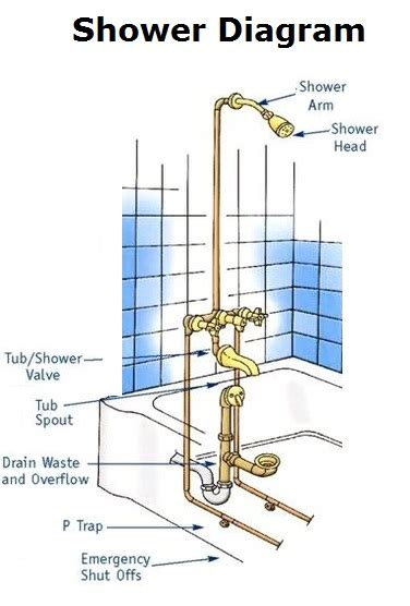 Shower Plumbing Schematic by Charts Charts Diagrams Graphs