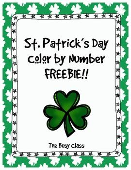 what was the original color of st day st s day color by number freebie by the busy