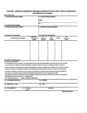 forms and templates toastmasters for texas central certificate of origin sle