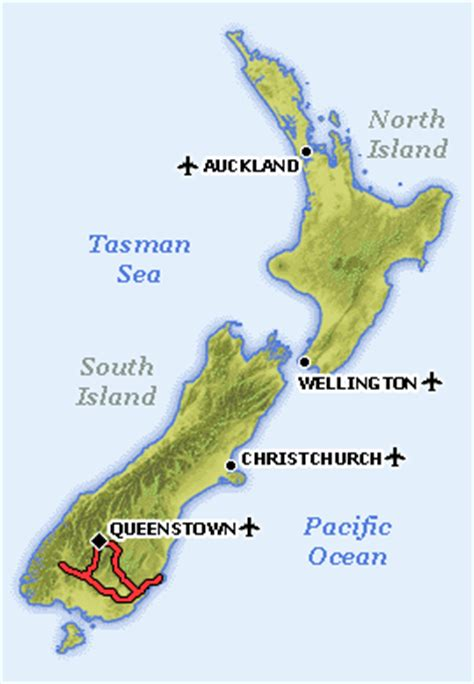 map world chch political map of queenstown new zealand political map of