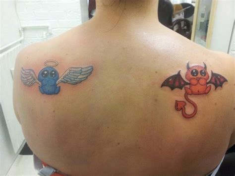 devil angel tattoo the and by ginningranger deviantart