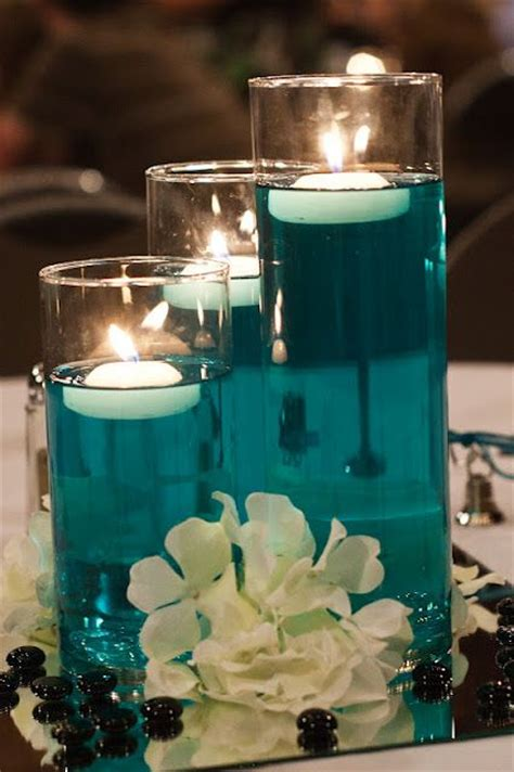 water centerpieces centerpieces from our wedding a bit of food color