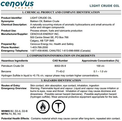 msds section 14 crude oil crude oil msds