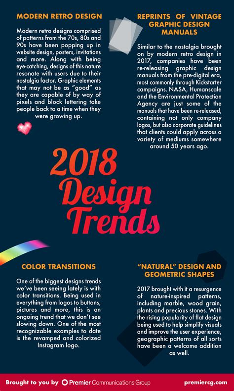 2017 design trends eyemax group 2018 design trend predictions premier communications group