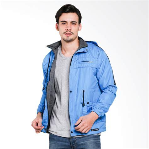 Jaket Parka Pria Kombinasi Bolak Balik jual vm parka bolak balik 2 in 1 jaket pria biru muda harga kualitas terjamin