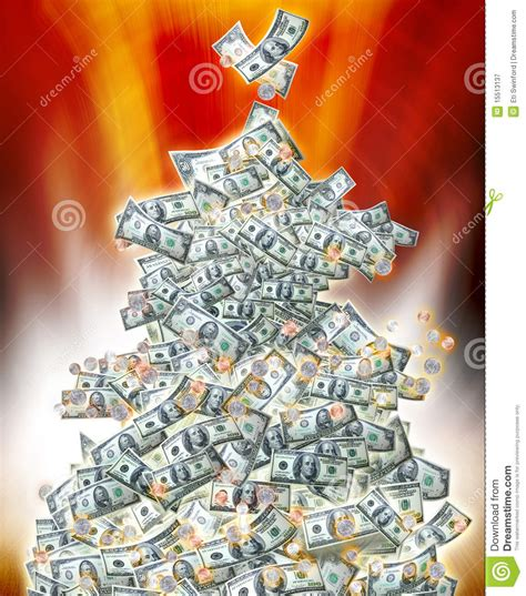 money christmas tree stock image image of merry earnings
