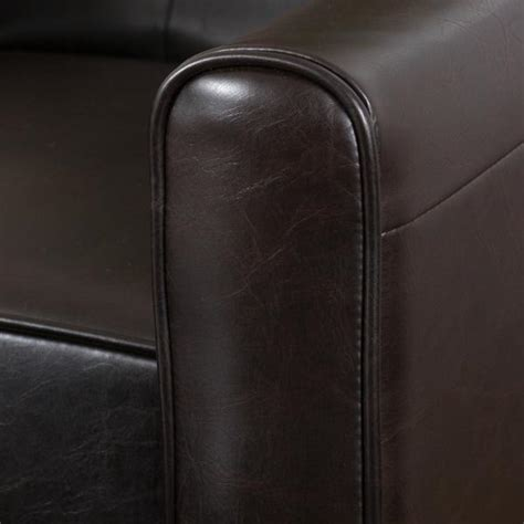 denise austin home october bonded leather barstool set of denise austin home elan tufted bonded leather recliner